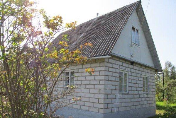 Компактный и симпатичный домик 8х6 с мансардой