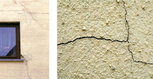 В результате усадки на оштукатуренной поверхности могут возникать трещины