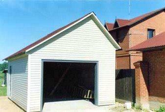 внешняя отделка гаража виниловым сайдингом