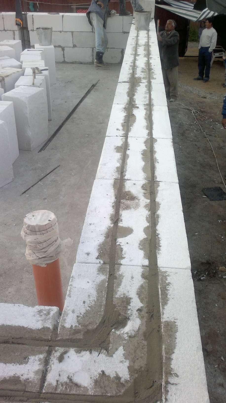 схема армирования стен из пенобетона