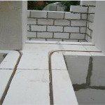 Армирование стен из пенобетона в углах