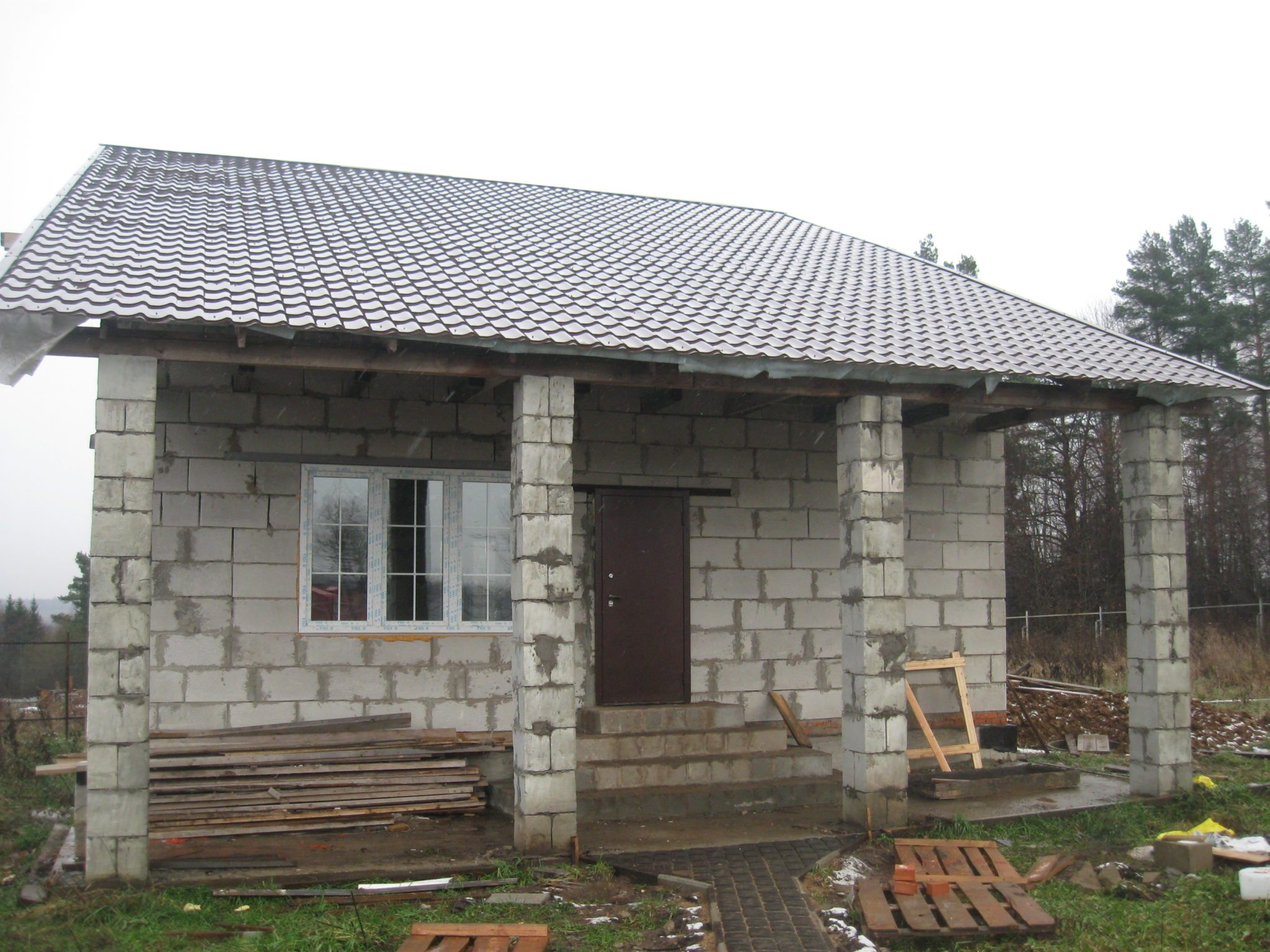 Дом из пеноблоков своими руками с фото