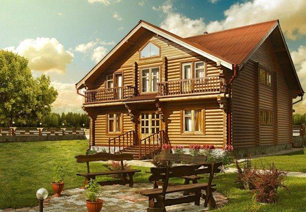 Фото деревянного дома.