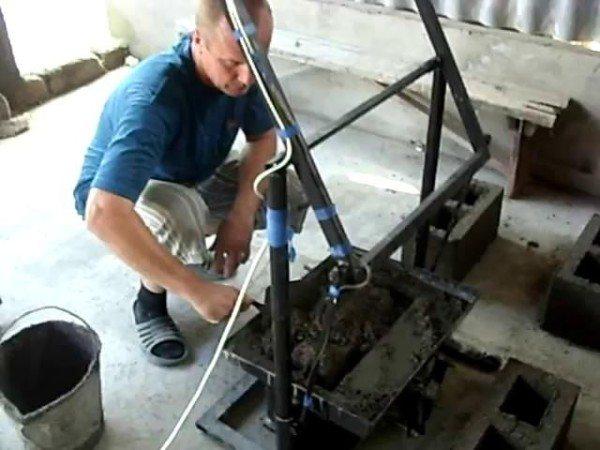 Изготовление блока в самодельном оборудовании