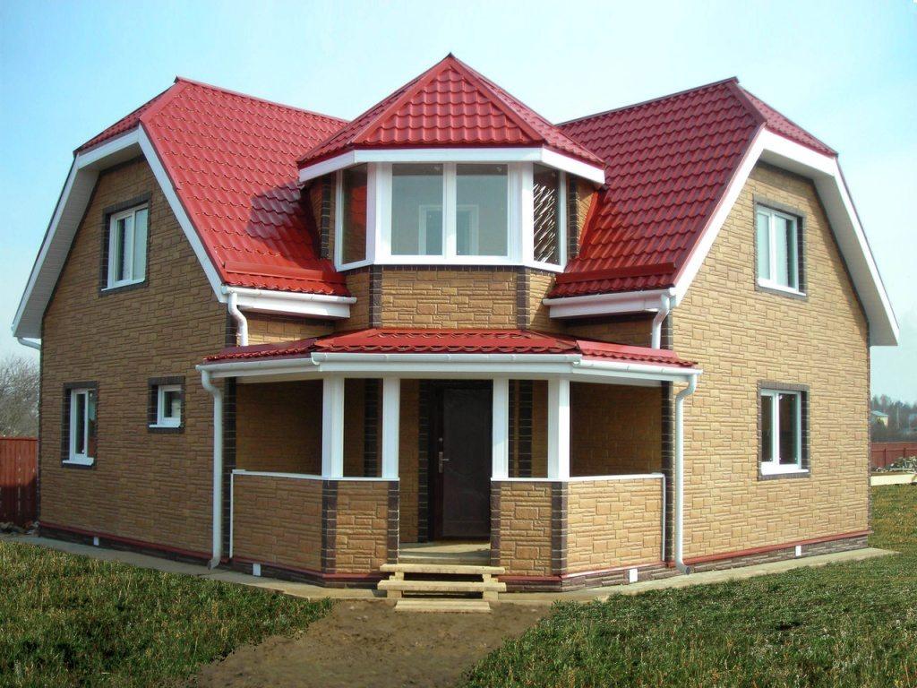 двухэтажные дома 10х10 схема