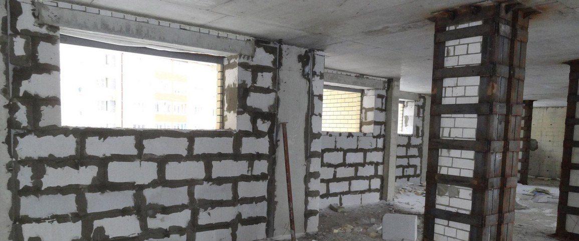Многоэтажное строительство из пенобетона.