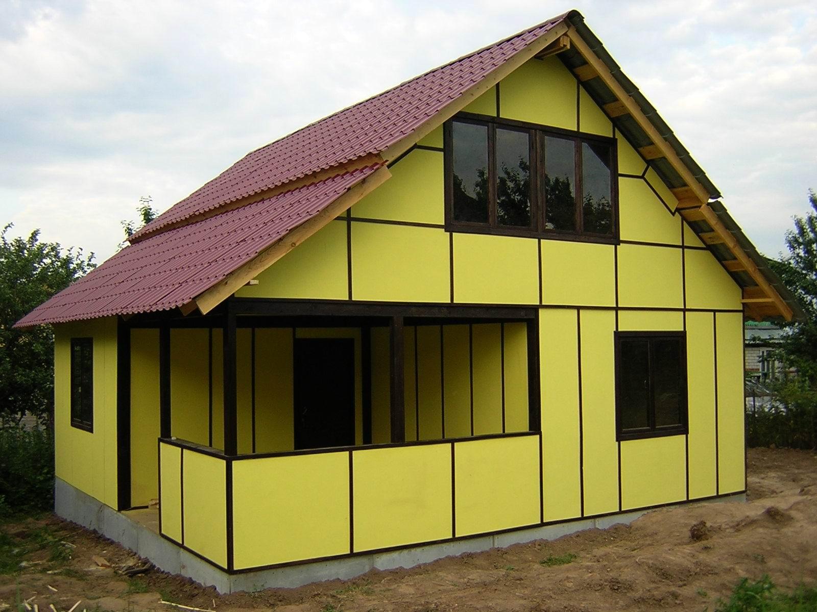 Каркасный дом из сэндвич панелей