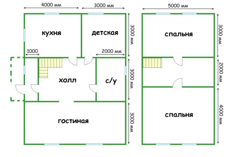 Планировка дома с мансардой из пеноблоков 8х8: видео-инструкция по