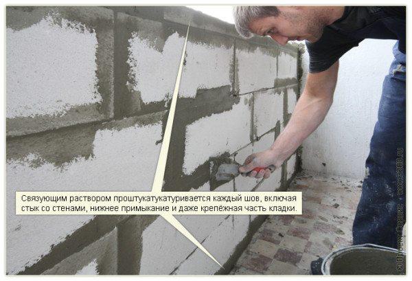 Как сделать проем в стене из пеноблока 602