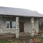 Одноэтажный дом из пеноблоков