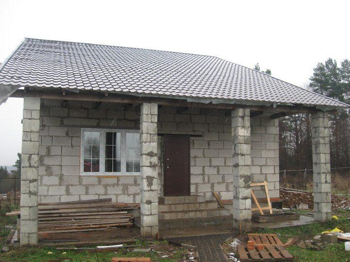 Одноэтажные дома из пеноблоков своими руками видео