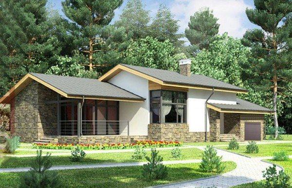 Одноэтажный пеноблочный домик