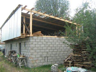 Односкатная крыша своими руками фото видео