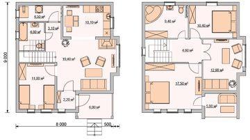 Проект дома из пеноблоков 8х12 с мансардой: видео-инструкция по