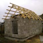 Сооружение бани из пеноблоков