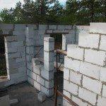 Сооружение дачного домика из газобетона