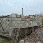 Строительство стен гаража из пеноблоков
