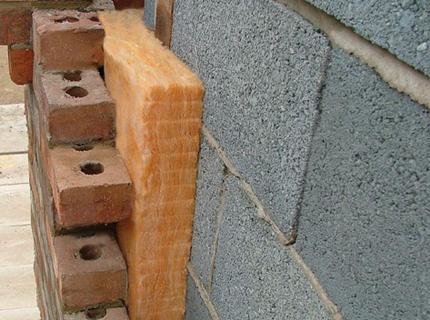 Утепление дома из пеноблоков минеральным утеплителем