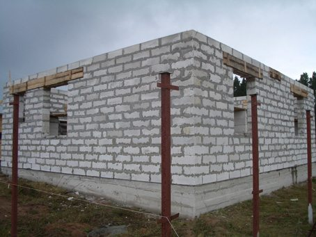 Строительство дома своими руками пеноблоков фото